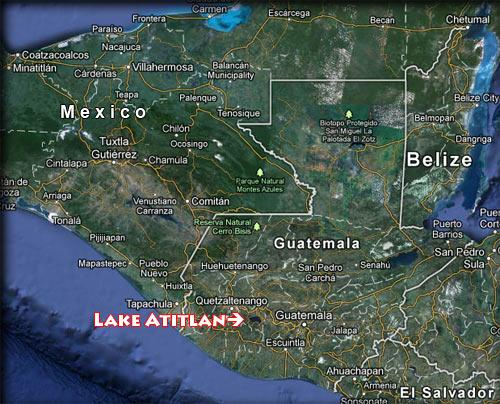 Lago Atitlan Guatemala map